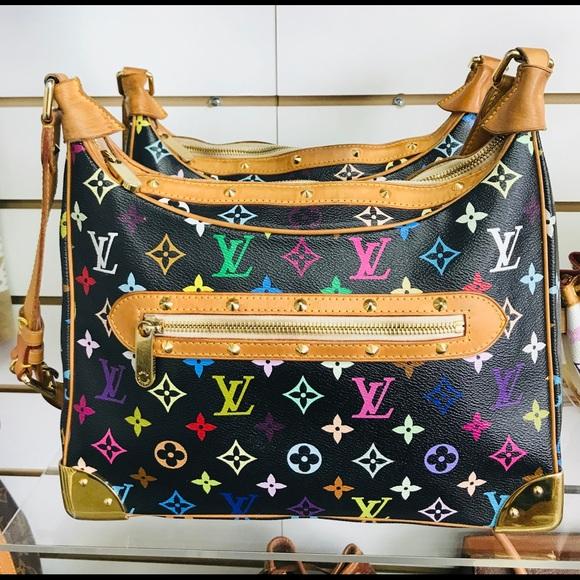 Louis Vuitton Handbags - LOUIS VUITTON BUOLOGNE NOIR MULTICOLOR VGUC